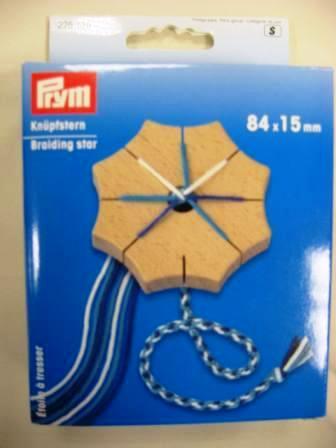 Pripomoček za pletenje vrvic